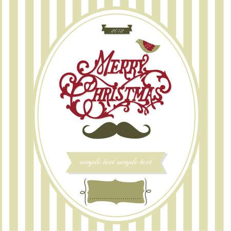creative writing: Vintage Christmas template