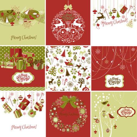 renos de navidad: Juego de Tarjetas de Navidad