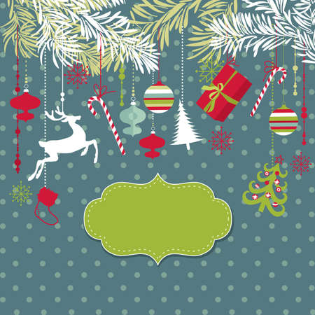 red gift box: Christmas background