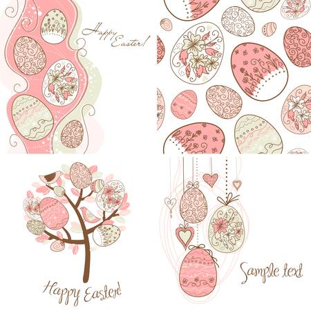 Set of Easter egg backgrounds  Stock Vector - 12851309