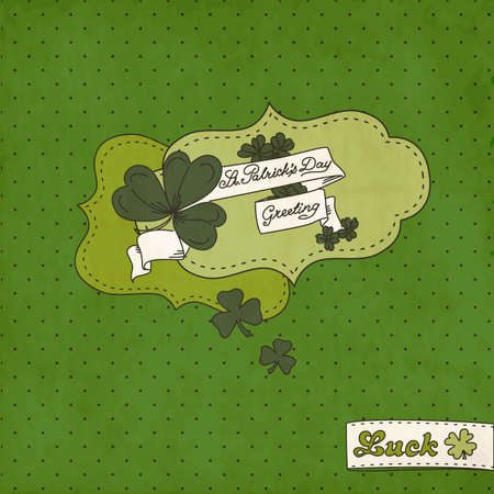 four leafed: Saint Patricks Day Card