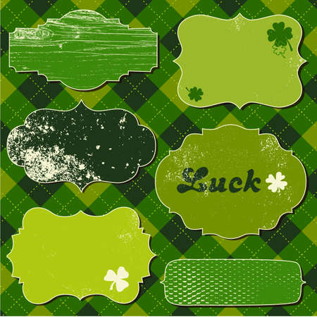 Set of illustration frames. St patricks Day theme.  Vector