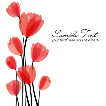 Flor de fondo romántico Ilustración de vector