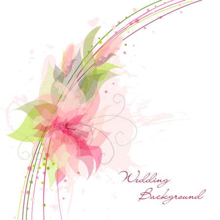 invitaci�n matrimonio: Flor de fondo rom�ntico. Ideal para como tel�n de fondo de la boda Vectores