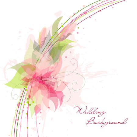 Romantic Flower Background. Ideal for as a Wedding background Vector