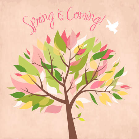 Spring is coming!  Vector
