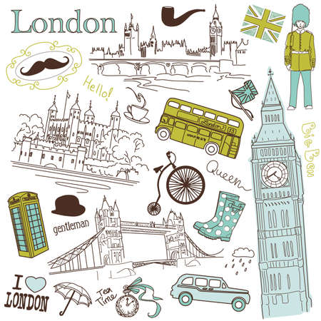 London doodles  Stock Vector - 13339759
