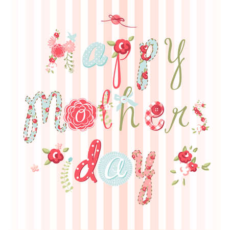 Hand Drawn Mothers Day card, lovely script  Vector