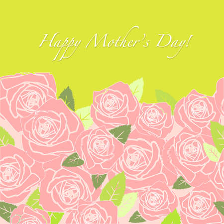 Happy Mother's Day greeting card  矢量图像