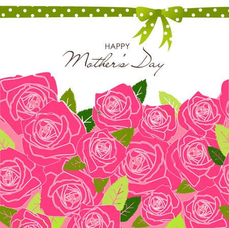 Mother's Day-kaart Stock Illustratie
