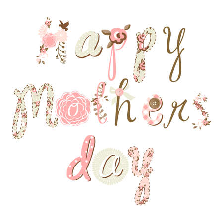 Hand Drawn Mother's Day card, lovely script  일러스트