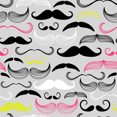 moustache: Art Deco Flower seamless pattern, retro style, vector illustration