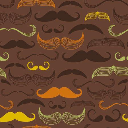 moustache: Art Deco Flower seamless pattern, retro style, vector illustration
