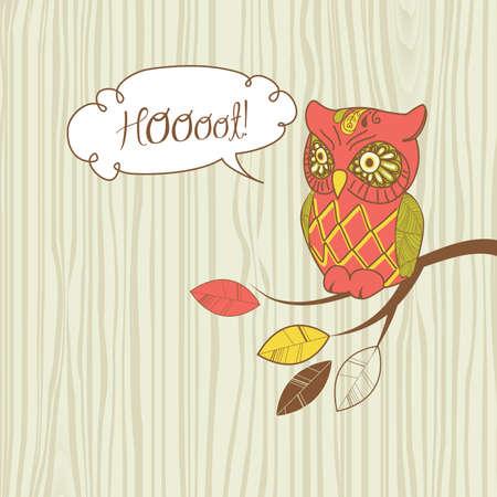 cute owl: Cute Vector Owl.