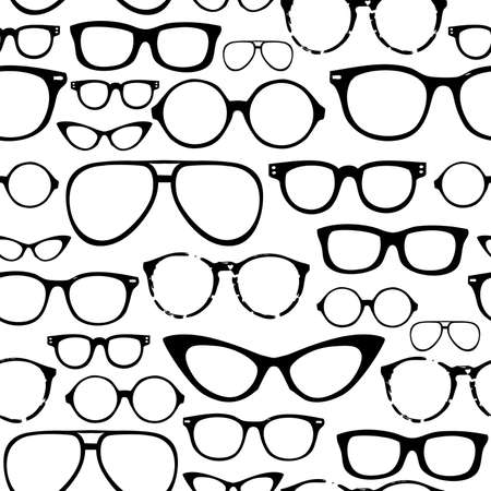 sunglasses reflection: Retro Seamless spectacles