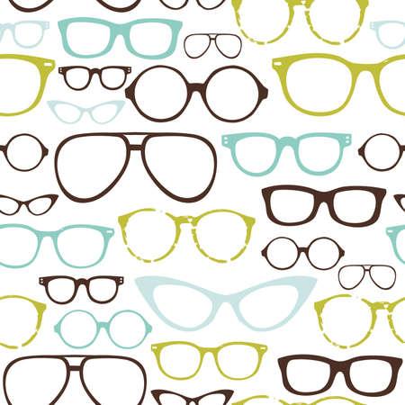 occhiali da vista: Retro occhiali Seamless Vettoriali