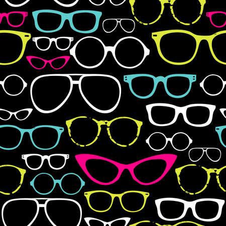 Retro Seamless spectacles  Ilustrace