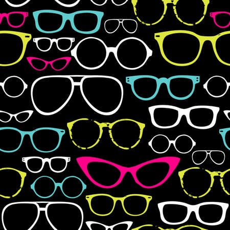 eyeglass: Retro Seamless spectacles  Illustration