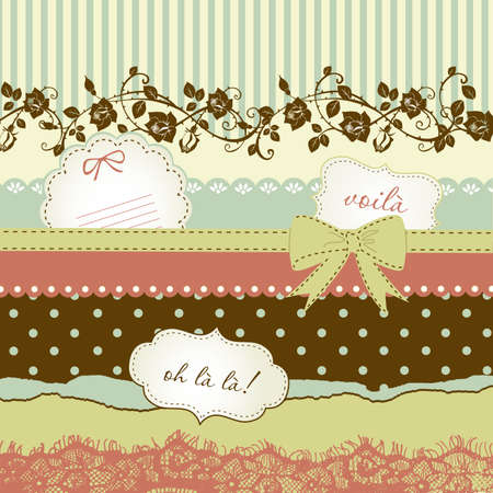 scrapbook cover: Cute scrapbook elements