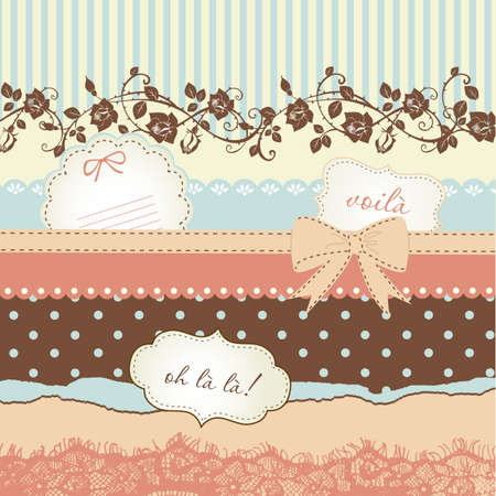 old diary: Cute scrapbook elements