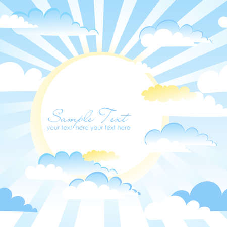 Clouds Background. Blue sky with clouds and space for your text. Vector Vector