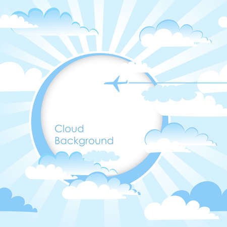 Clouds Background. Blue sky with clouds. Vector  Vector