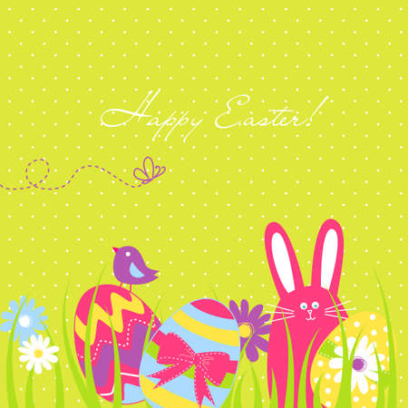chick: Vintage Easter Seamless background