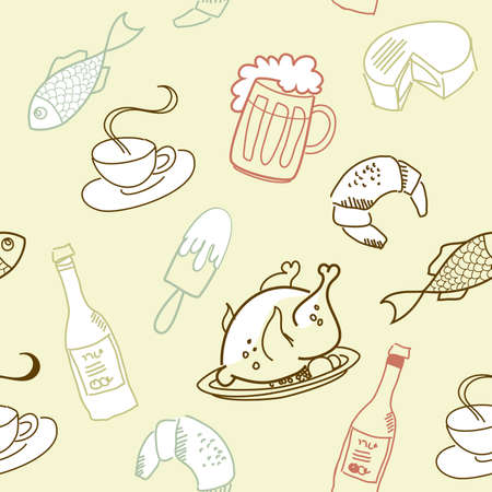 Food Seamless  Vector
