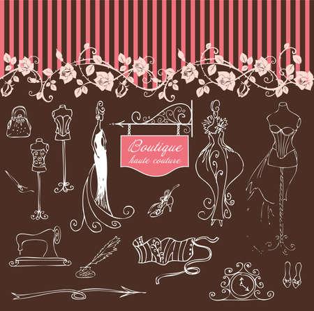 부티크 오트 쿠튀르 (haute couture) 및 양재