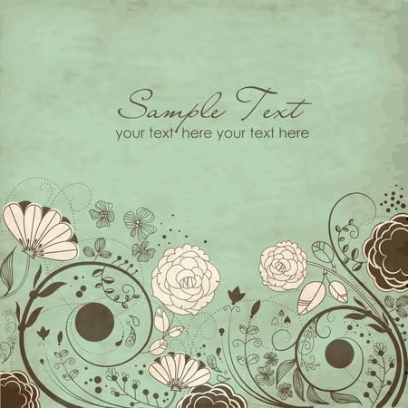 Floral greeting card  Illustration