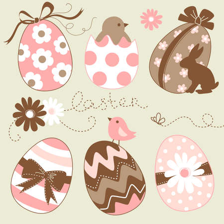 Cute Easter Egg Set Stock Vector - 13346932