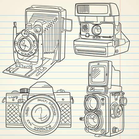 Cool Hand elaborado conjunto de cámara de edad, todas las leyendas de tiempo Foto de archivo - 14255063