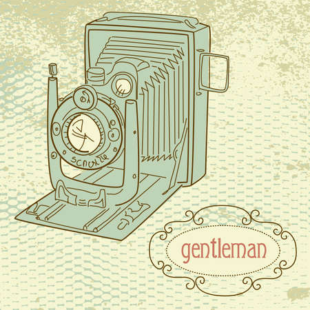 A gentlemans camera Vector