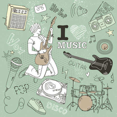 chillout: Music Doodles Illustration