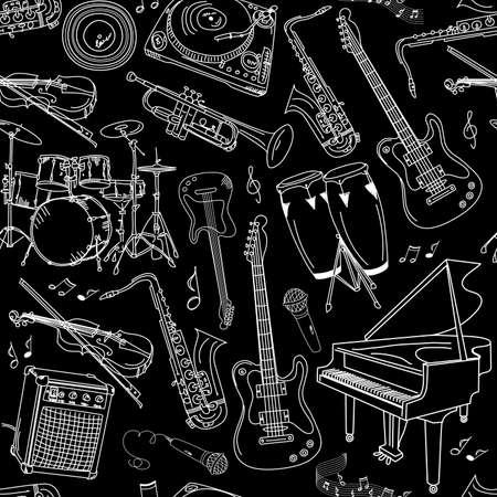 gitar: müzik kesintisiz desen Çizim