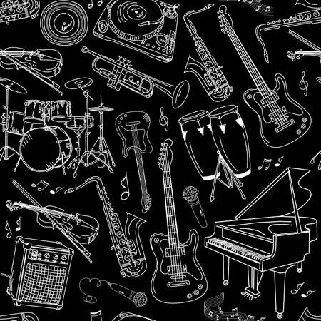 guitar: music seamless pattern