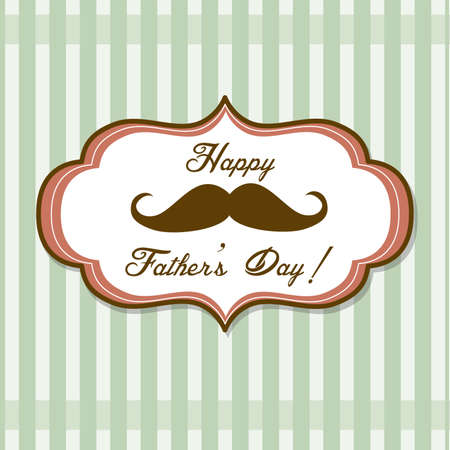 white moustache: Happy Fathers day background with fancy mustache, retro style