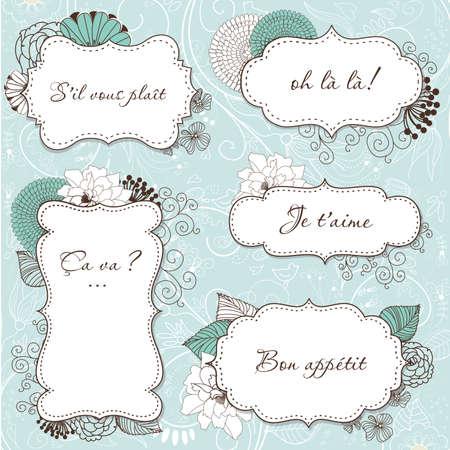 vendange: Floral Vintage Frames dans le style fran�ais