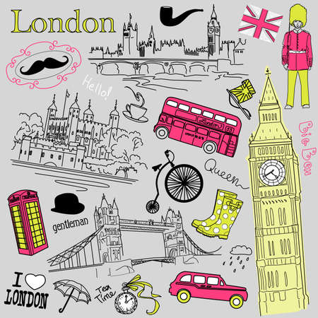 London doodles  Stock Vector - 14255126