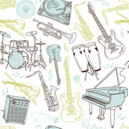 maracas: music seamless pattern