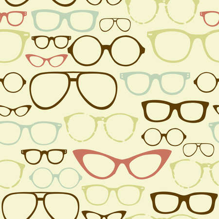 Retro Seamless spectacles Stock Vector - 14255024