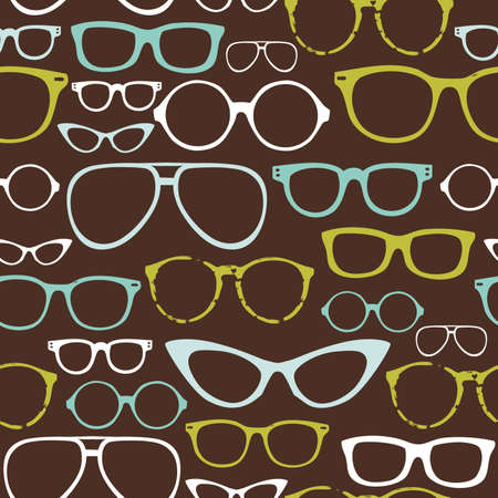 unisex: Retro Seamless spectacles  Illustration