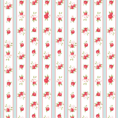 Vintage rose pattern, vector illustration