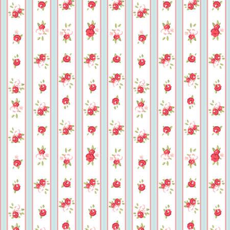 Vintage roos patroon, vector illustratie Stock Illustratie