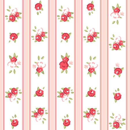 Vintage rose pattern  Seamless Rose wallpaper   イラスト・ベクター素材
