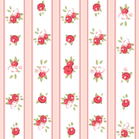 Vintage rose pattern  Seamless Rose wallpaper  Ilustração