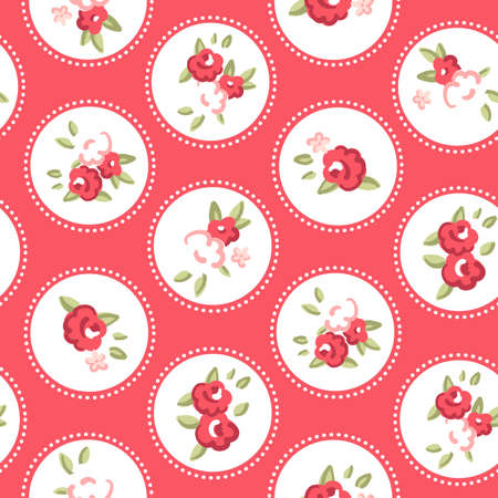 shabby chic: Vintage rose pattern  Seamless Retro rose wallpaper