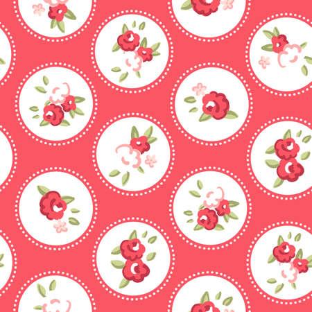 red rose: Vintage rose pattern  Seamless Retro rose wallpaper