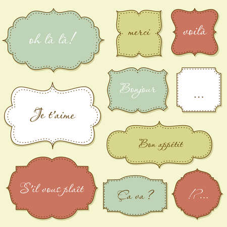 scroll border: Vintage Frames  Illustration