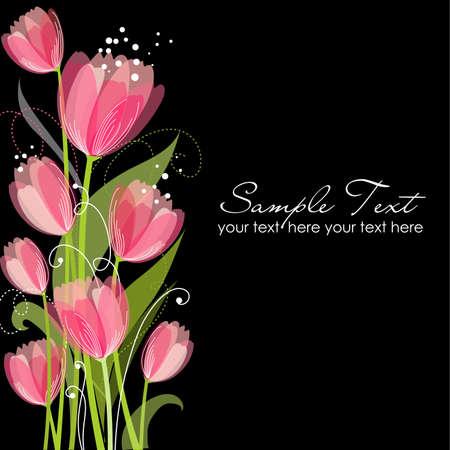 Floral background avec des tulipes Banque d'images - 14255060